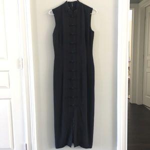 Maggy London Silk Black Dress Size 4